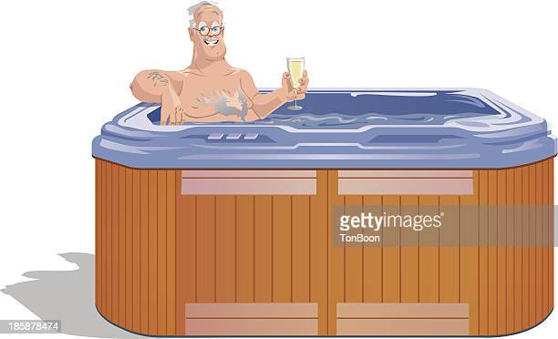 Hot Tub Clipart #1048353 - Illustration by toonaday