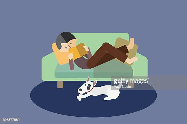 Man relaxing on the sofa