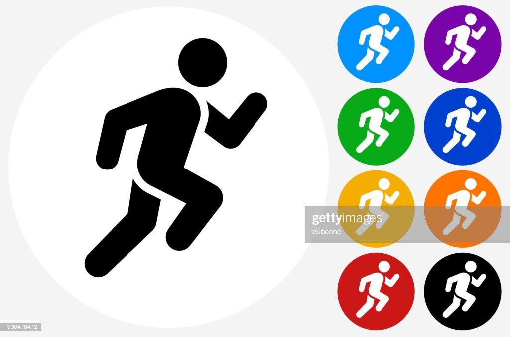Man Running Icon : Stock Illustration