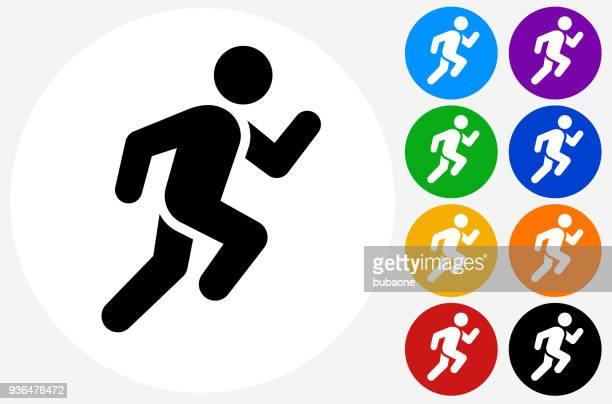 man running icon - sportsperson stock illustrations