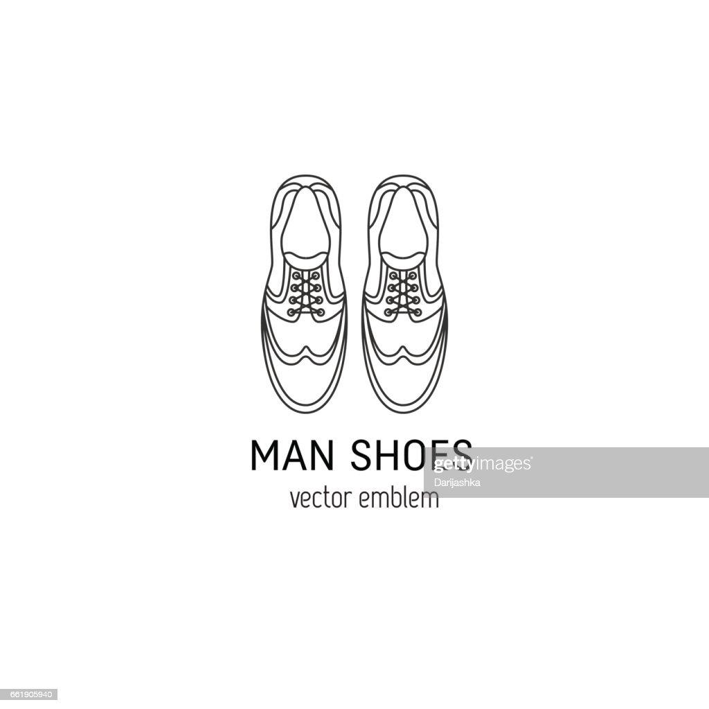 Man shoes symbol