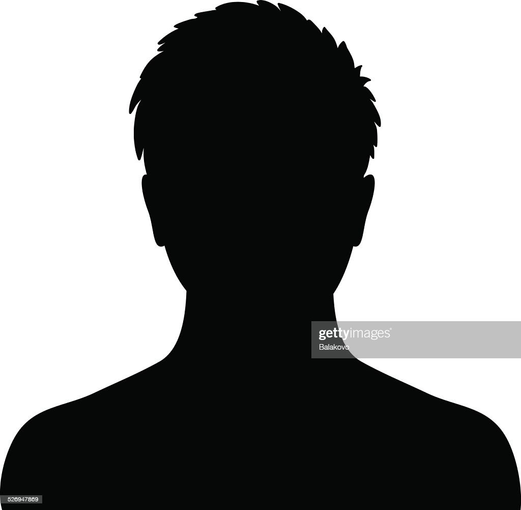 Man silhouette profile picture