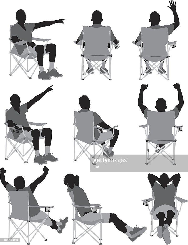 Back Of Beach Chair Silhouette 50641 TWEB