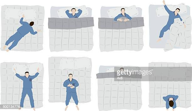 Man sleeping on bed
