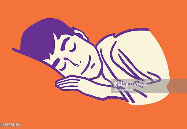 man sleeping - sleeping stock illustrations