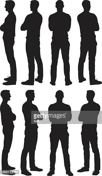 Man standing in various views