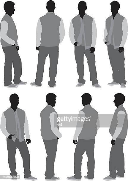 man standing - jacket stock illustrations