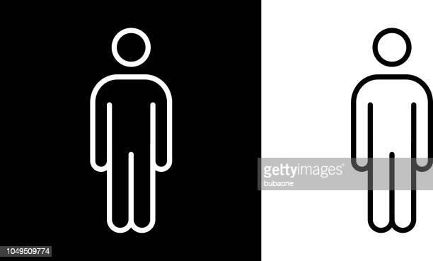 mann-strichmännchen-symbol - strichmännchen stock-grafiken, -clipart, -cartoons und -symbole