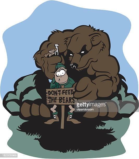 Man Surprised By Bear