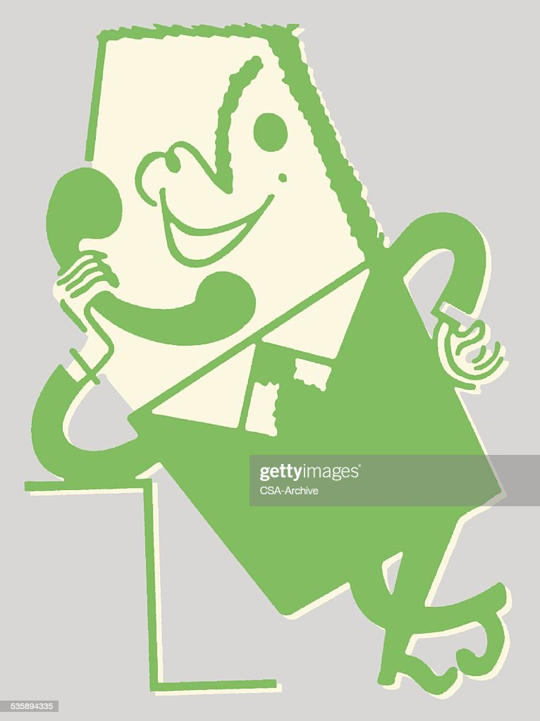 Man Talking on the Telephone : Vectorkunst