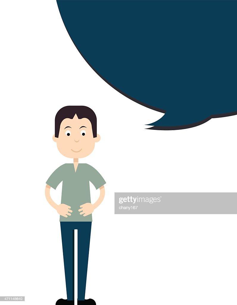 Man talking