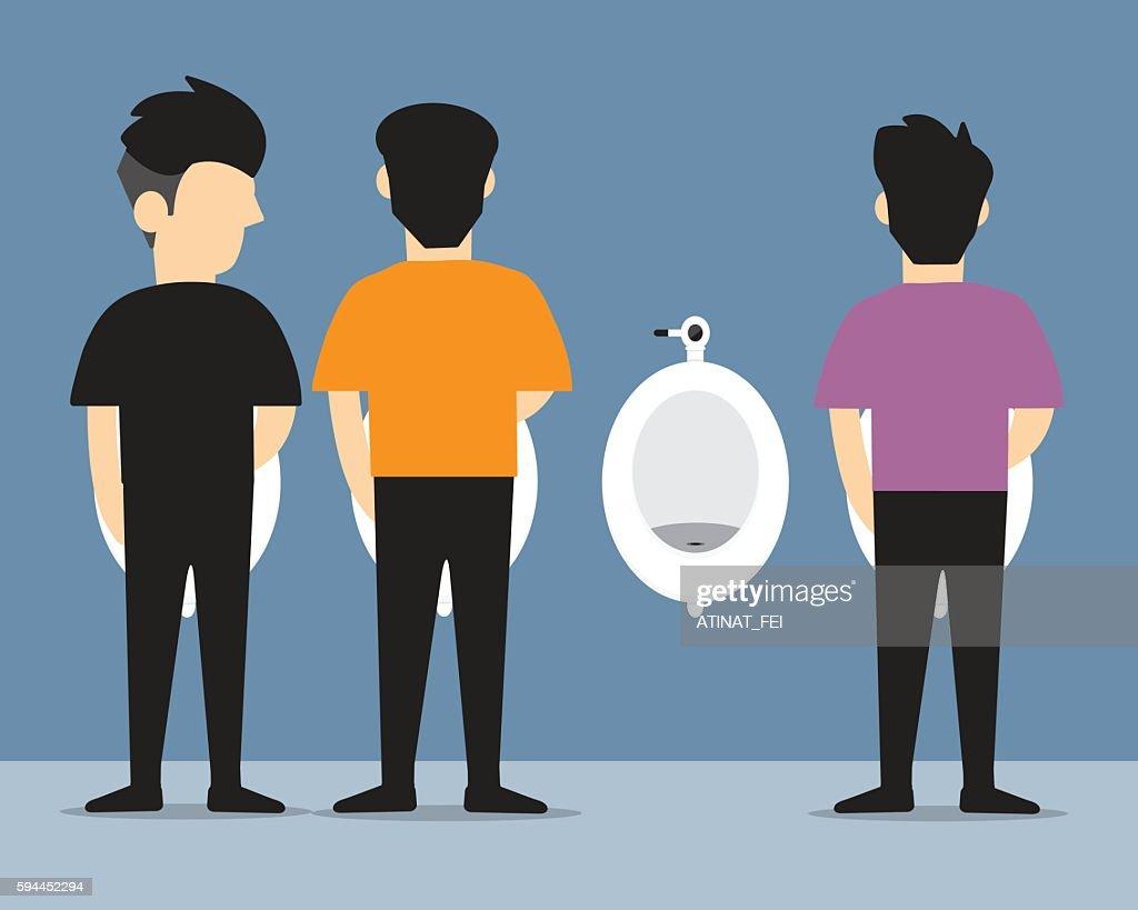 man urinating  vector flat design.