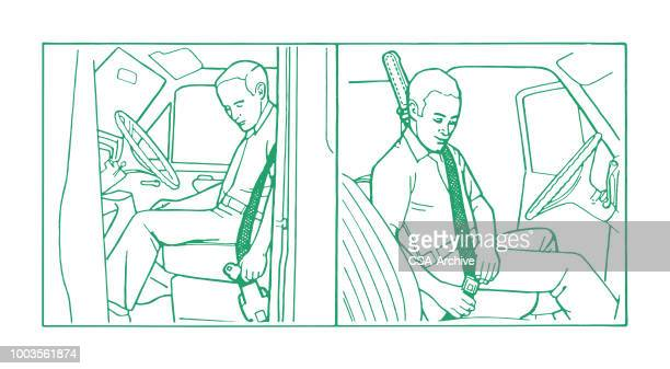 Man Using Seatbelt