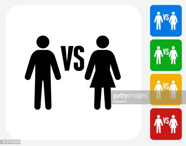 女対男。 - 男女の争い点のイラスト素材/クリップアート素材/マンガ素材/アイコン素材