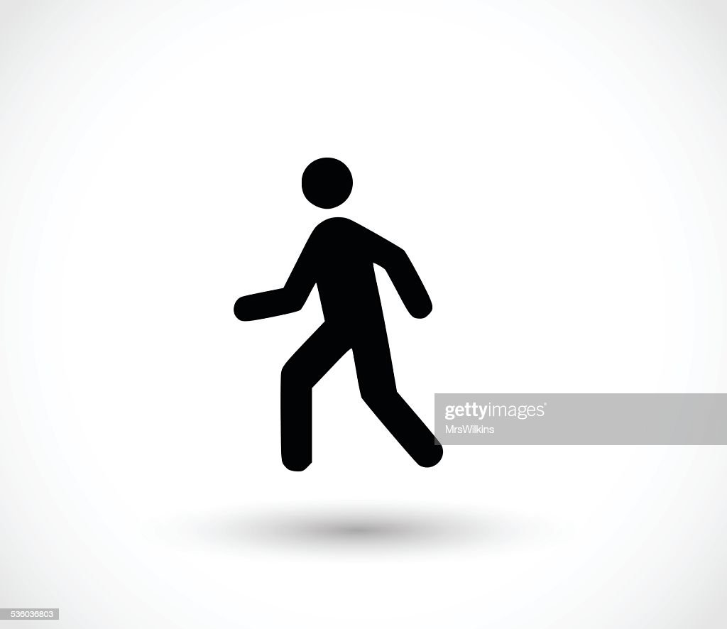 Man walk icon vector illustration