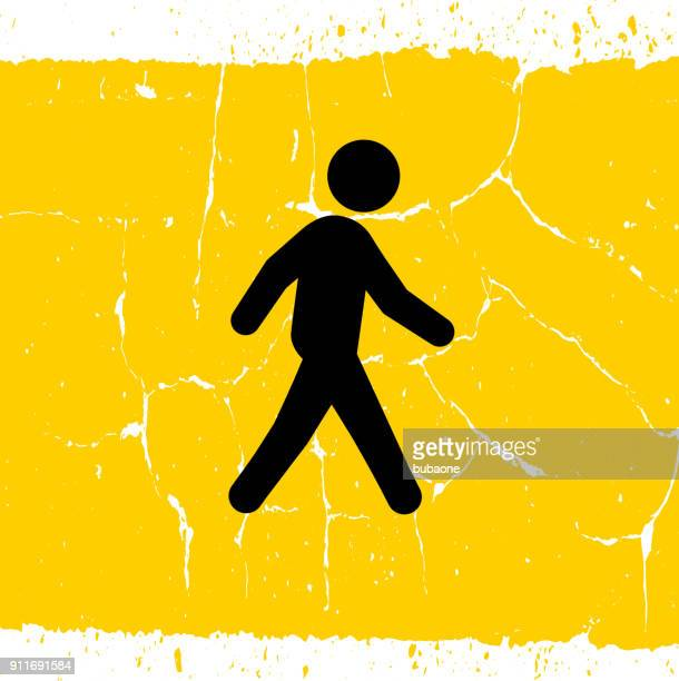 man walking. - crossing sign stock illustrations, clip art, cartoons, & icons