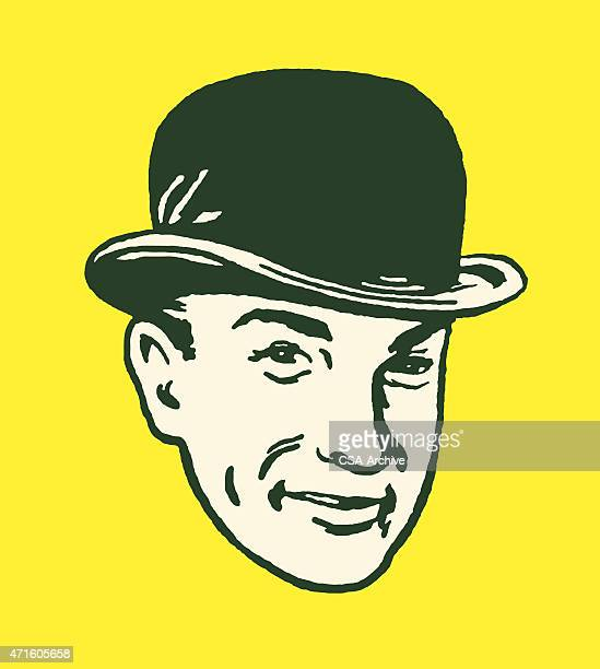 Man Wearing a Bowler