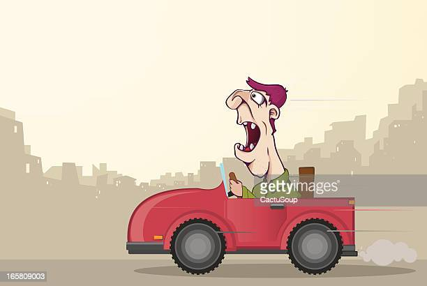 man with a car - ugliness stock illustrations, clip art, cartoons, & icons