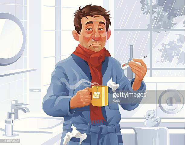 Man With a Cold In The Bathroom