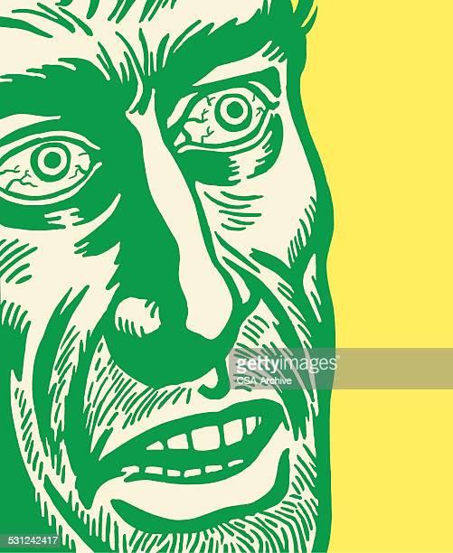 Man With Bloodshot Eyes