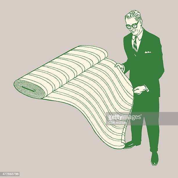 Homem com Parafuso de Porca de Tecido