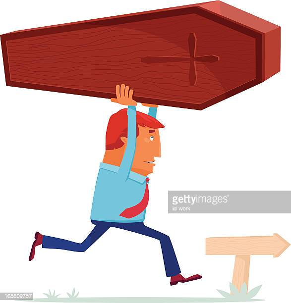 man with coffin