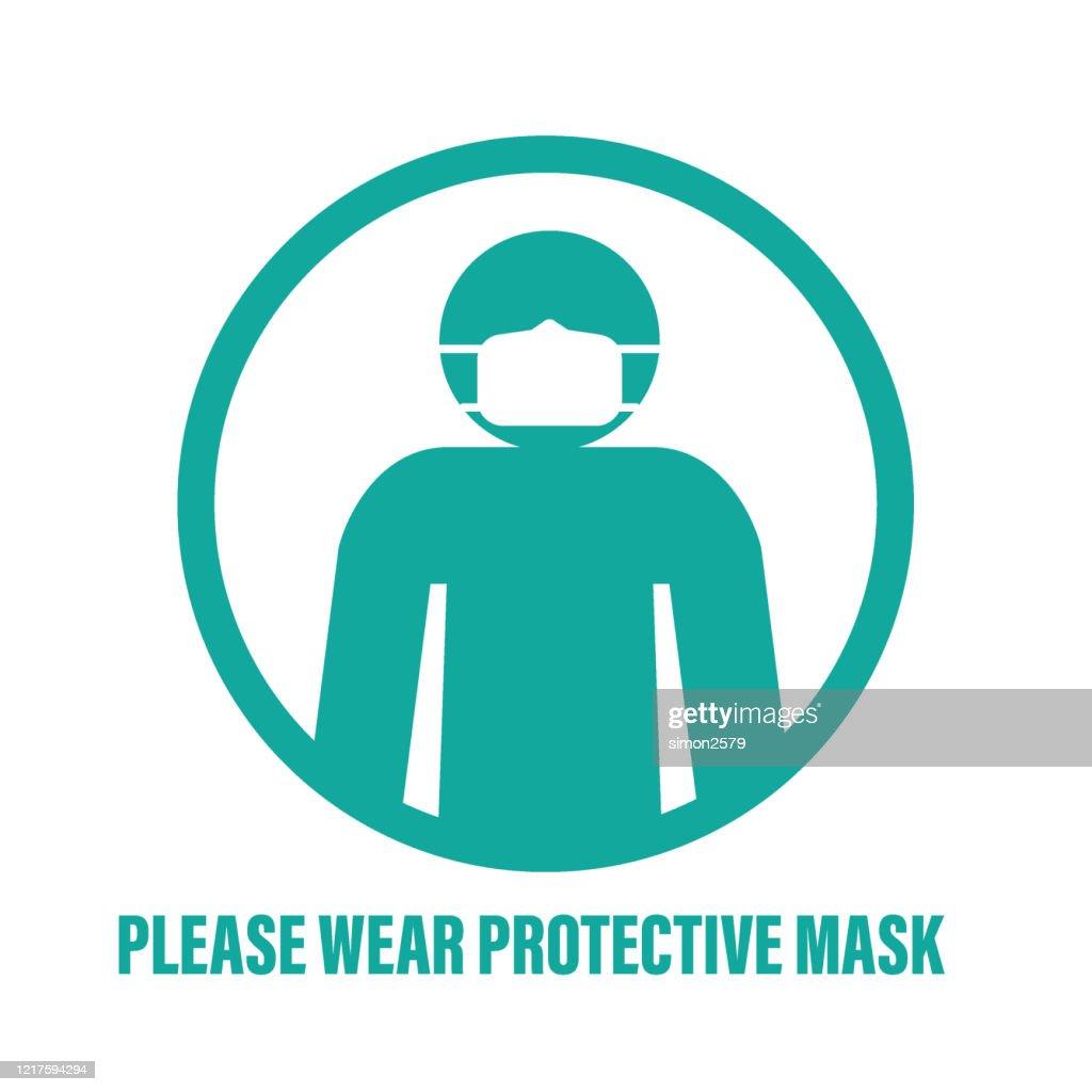 マスクアイコン記号を持つ男 : ストックイラストレーション