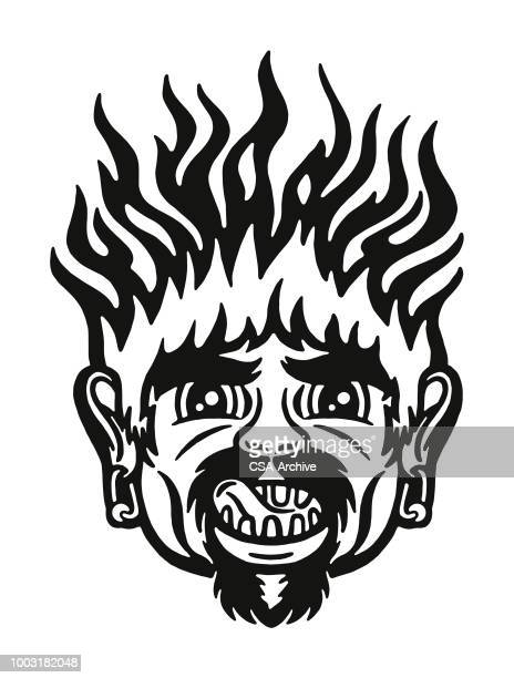 Man with Hair on Fire