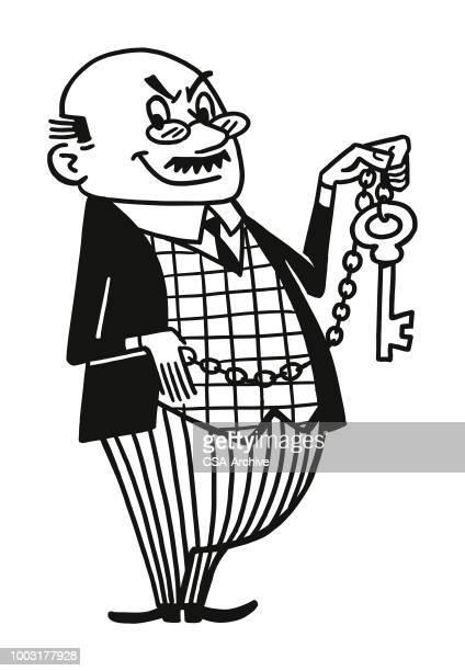 Man with Large Key