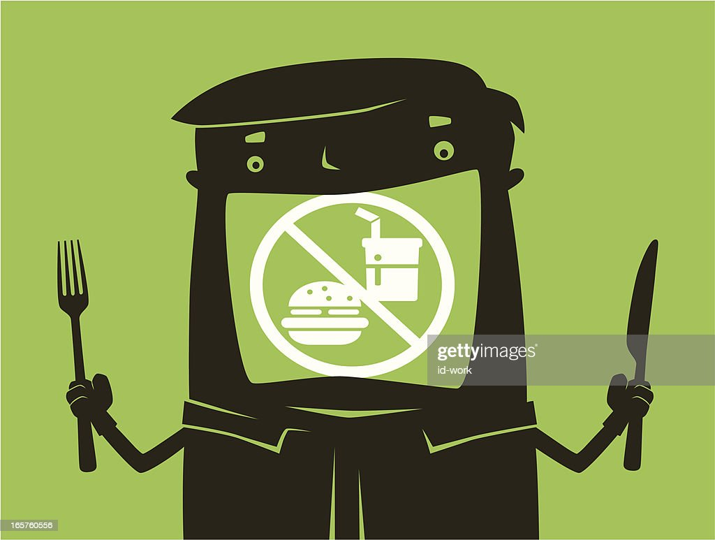 No food symbol choice image symbol and sign ideas man with no junk food symbol silhouette vector art getty images man with no junk food biocorpaavc