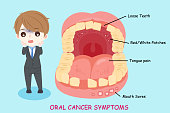 man with oral cancer symptoms