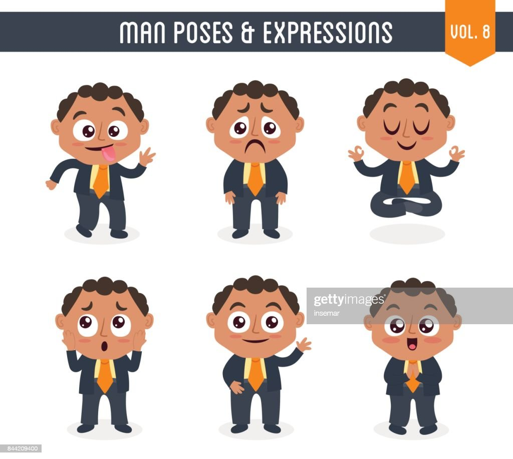 Man with poses and expressions (Vol. 8 / 8)