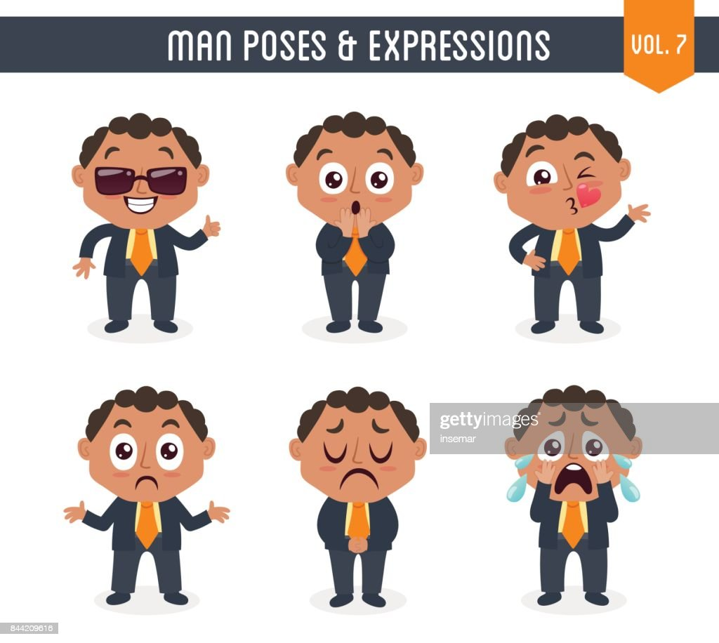 Man with poses and expressions (Vol. 7 / 8)
