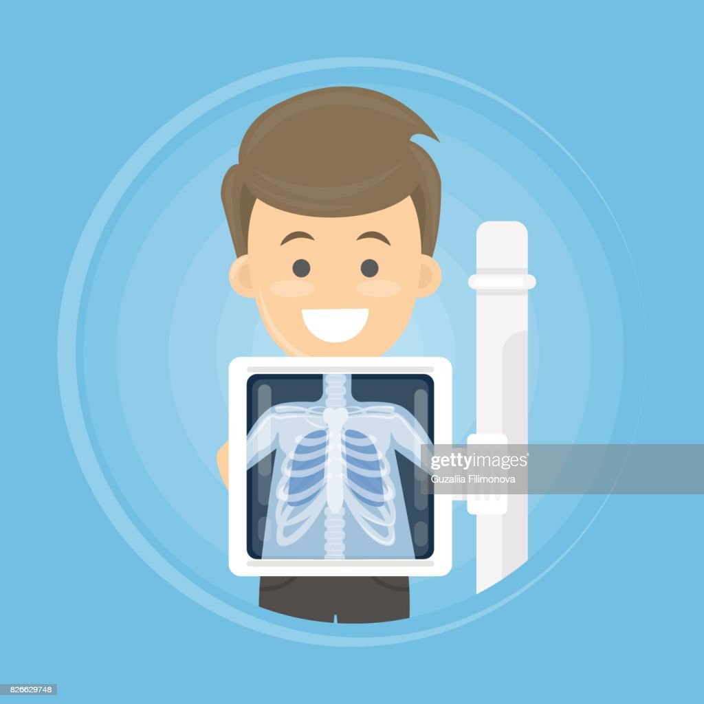 man with x ray
