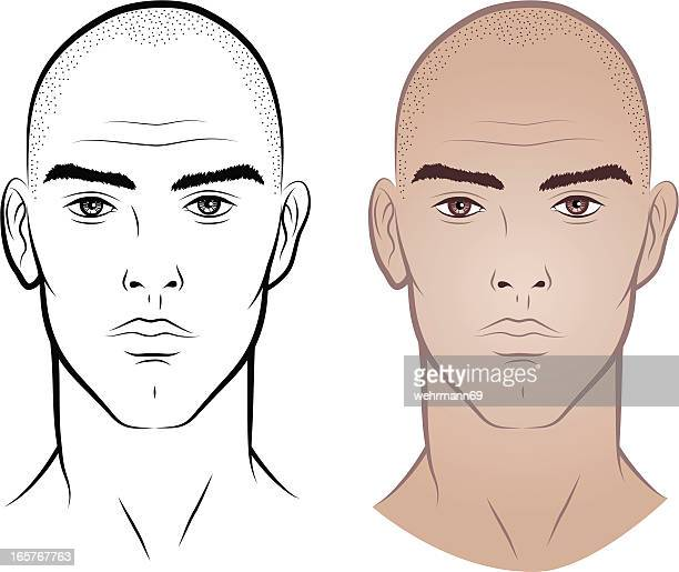 man without hair - balding stock illustrations, clip art, cartoons, & icons