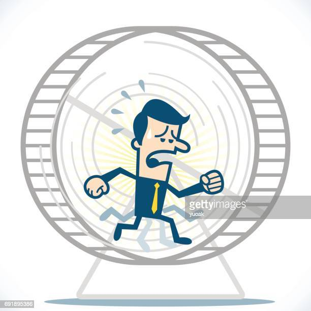 Man working on a hamster wheel