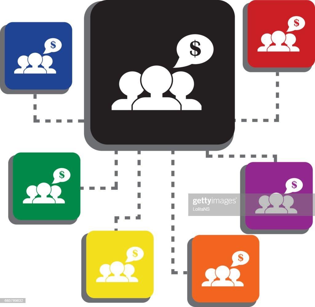 Management Business Training Und Lernen Einzelnes Symbol ...