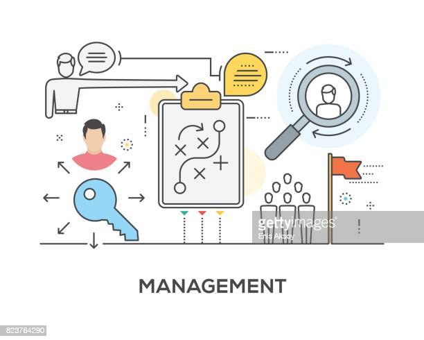 management concept with icons - coordination stock illustrations, clip art, cartoons, & icons