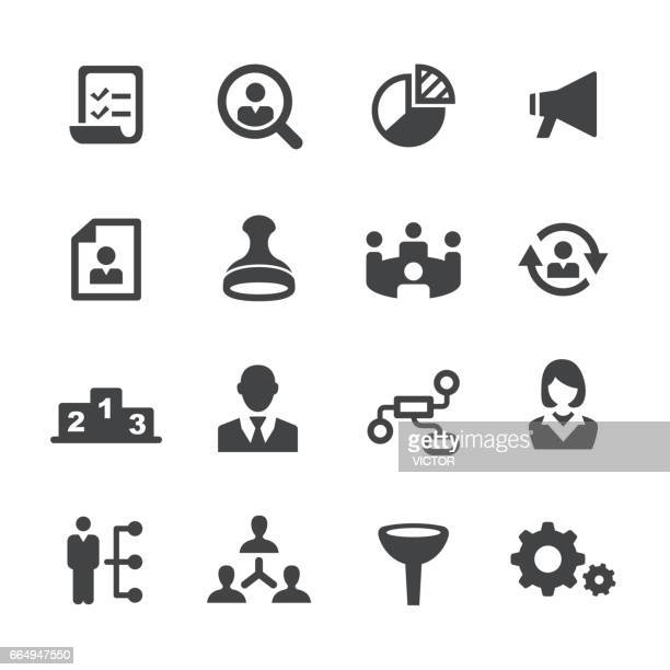 management icons - acme series - corporate hierarchy stock illustrations, clip art, cartoons, & icons