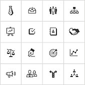 Management Icons — Inky Series