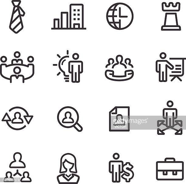 Management Icons - Line Series