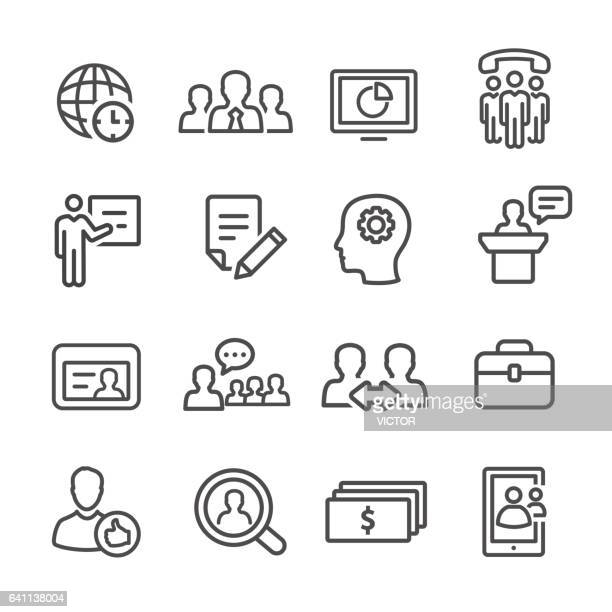 Management Icons Set - Line Series