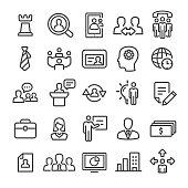 Management Icons Set - Smart Line Series