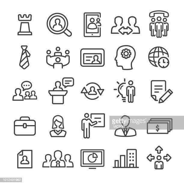 illustrations, cliparts, dessins animés et icônes de gestion icons set - smart line series - retraite