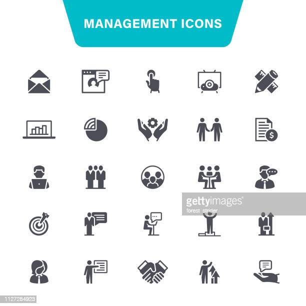 management icons - head above water stock illustrations