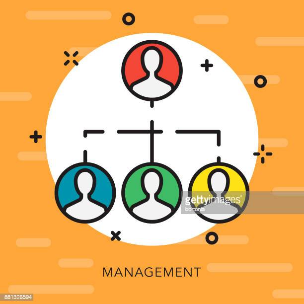 management open outline business icon - corporate hierarchy stock illustrations, clip art, cartoons, & icons