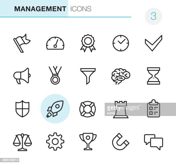 management - pixel perfect icons - flag stock illustrations