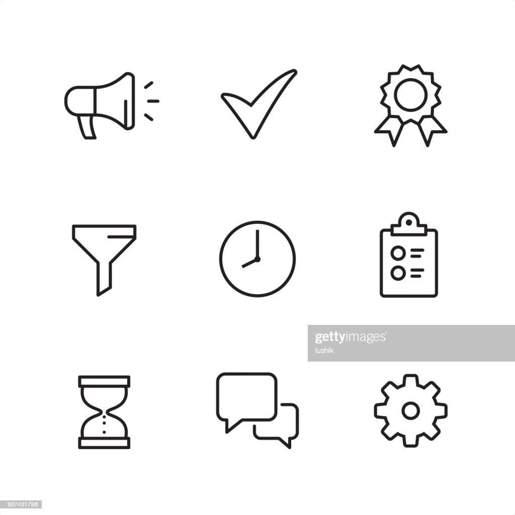 Management - Pixel Perfect icons : stock illustration