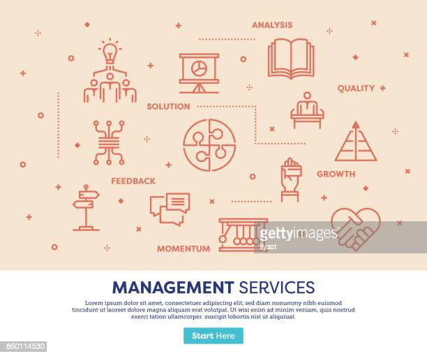 management-services-konzept - variation stock-grafiken, -clipart, -cartoons und -symbole