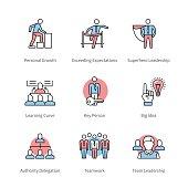 Management, team work, business concept symbols
